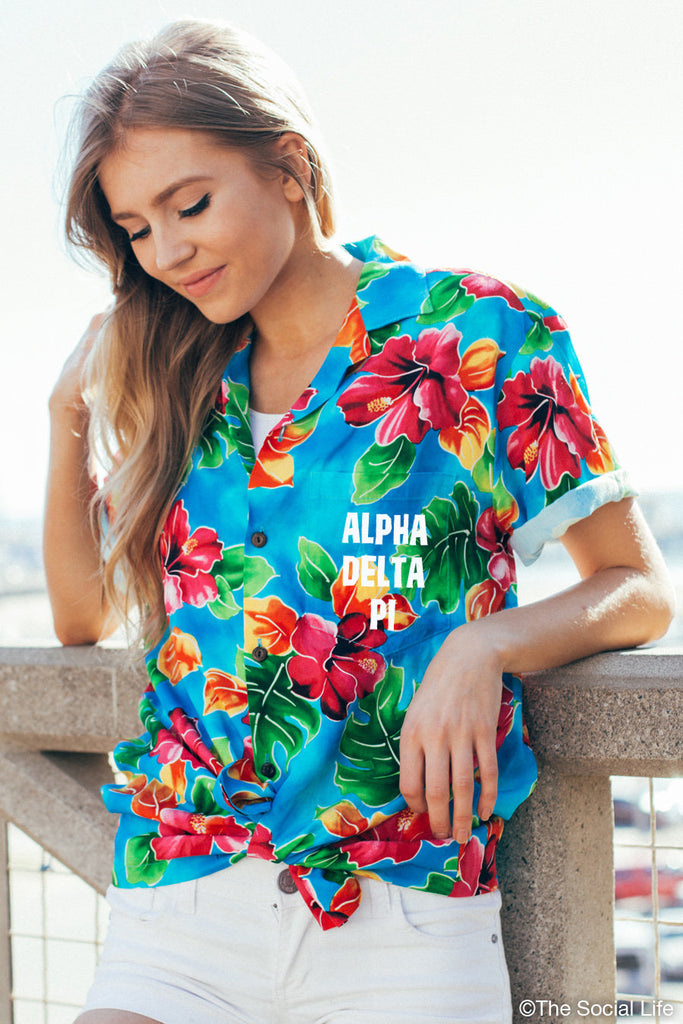 Alpha Delta Pi Hawaiian Shirt