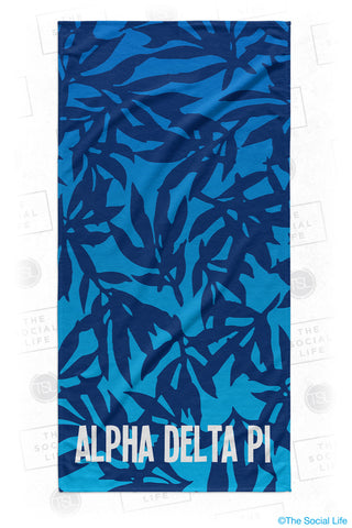 Alpha Delta Pi Sea Leaf Beach Towel