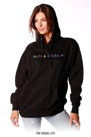 Alpha Delta Pi Spectrum Embroidered Hoodie