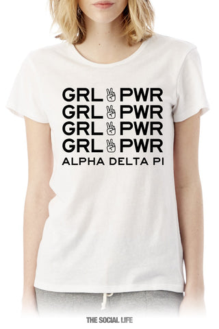 Alpha Delta Pi Girl Power Tee