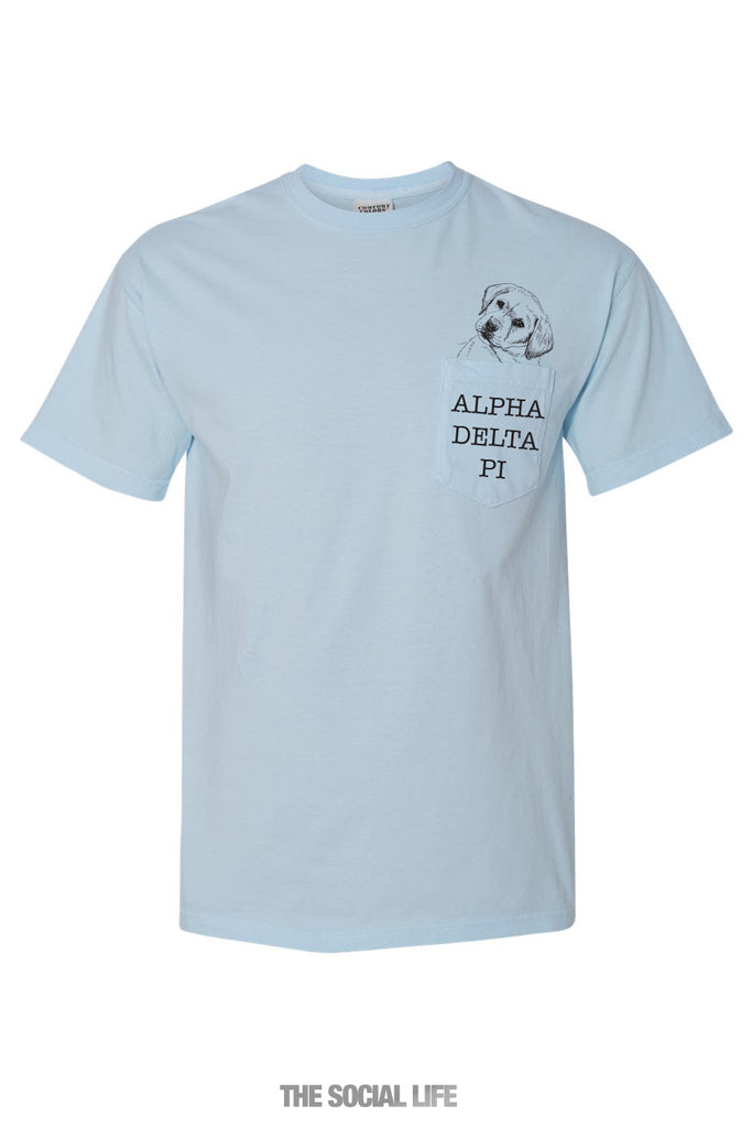 Alpha Delta Pi Puppy Pocket Tee