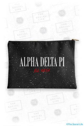 Alpha Delta Pi Speckle Cosmetic Bag