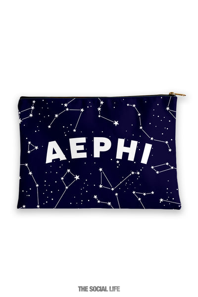 Alpha Epsilon Phi Constellation Cosmetic Bag