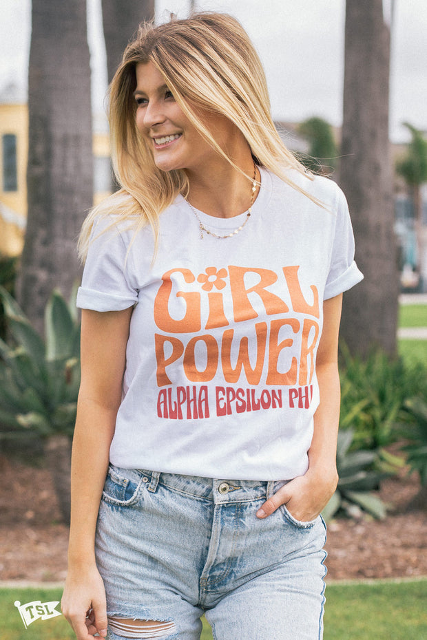 Alpha Epsilon Phi Groovy Girl Power Tee