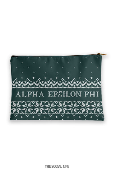 Alpha Epsilon Phi Holiday Cosmetic Bag