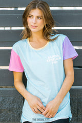 Alpha Epsilon Phi Pastel Colorblock Scoop Tee