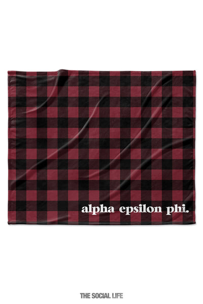 Alpha Epsilon Phi Plaid Velvet Plush Blanket