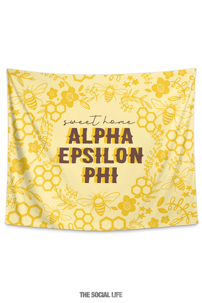Alpha Epsilon Phi Sweet Home Tapestry