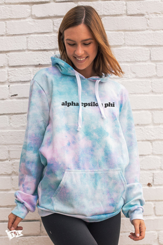 Alpha Epsilon Phi Simple Digi-Tie Dye Hoodie