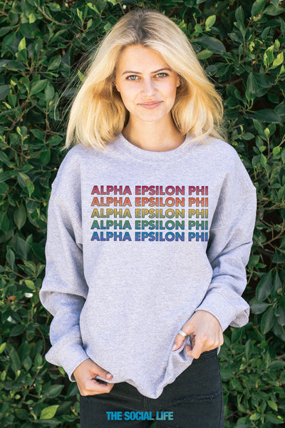 Alpha Epsilon Phi Technicolor Crewneck