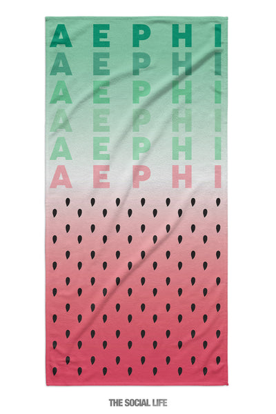 Alpha Epsilon Phi Watermelon Towel