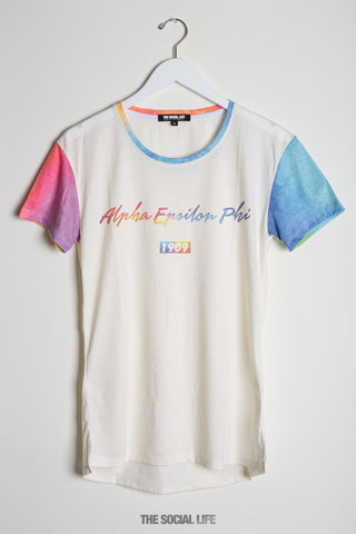 Alpha Epsilon Phi Airbrush Scoop Tee