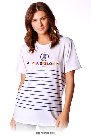 Alpha Epsilon Phi Sailor Striped Tee