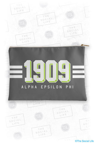 Alpha Epsilon Phi Varsity Cosmetic Bag