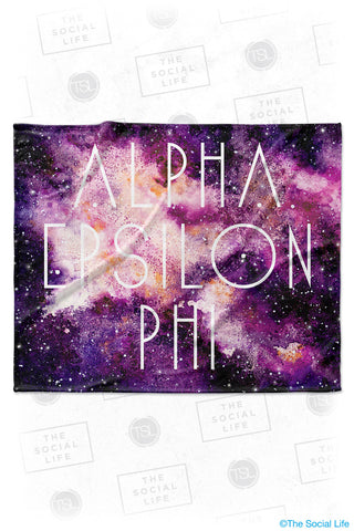 Alpha Epsilon Phi Galaxy Velvet Plush Blanket