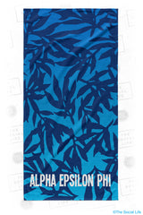 Alpha Epsilon Phi Sea Leaf Beach Towel