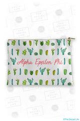 Alpha Epsilon Phi Cacti Cosmetic Bag