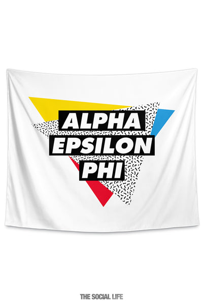 Alpha Epsilon Phi Graphy Tapestry