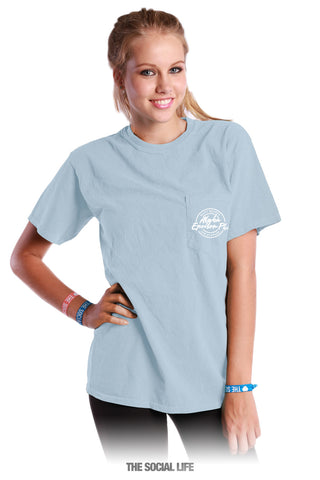 Alpha Epsilon Phi Motto Pocket Tee
