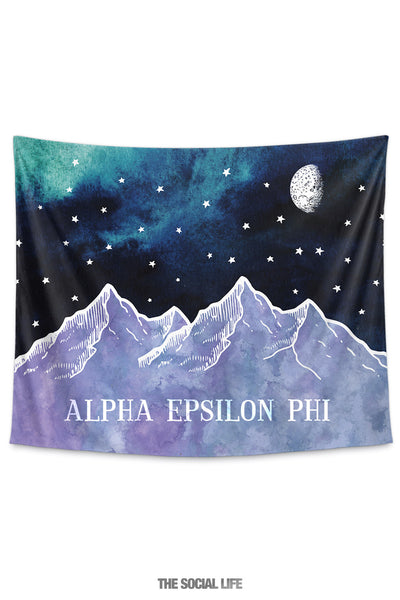 Alpha Epsilon Phi Mountain Night Tapestry