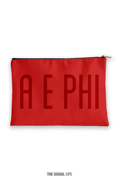 Alpha Epsilon Phi Primary Cosmetic Pouch