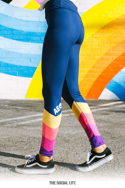 Alpha Epsilon Phi Retro Leggings