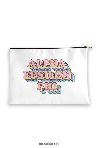 Alpha Epsilon Phi Retro Cosmetic Bag