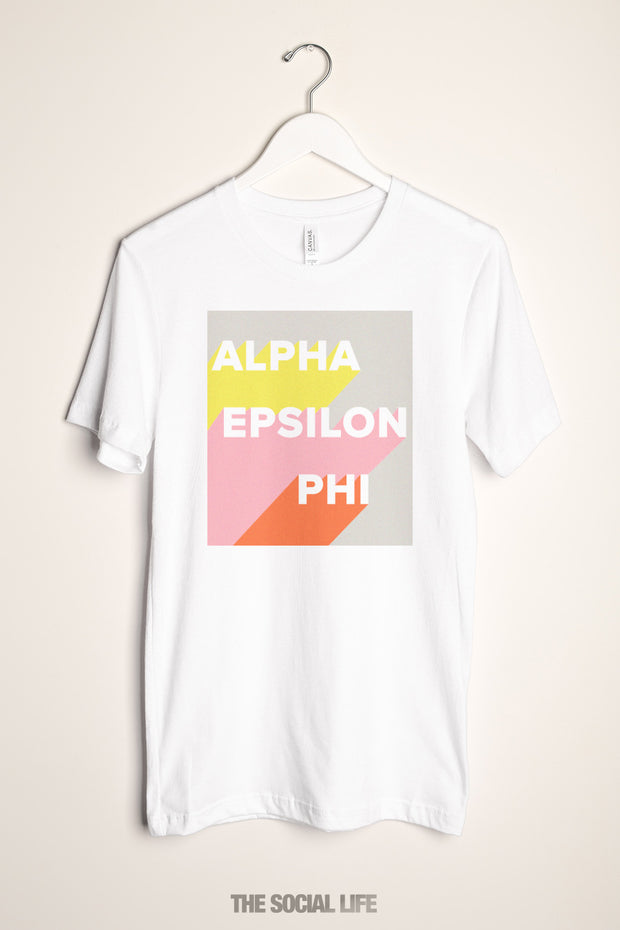 Alpha Epsilon Phi  Shadow Box Tee