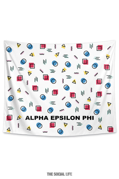Alpha Epsilon Phi Squigglies Tapestry