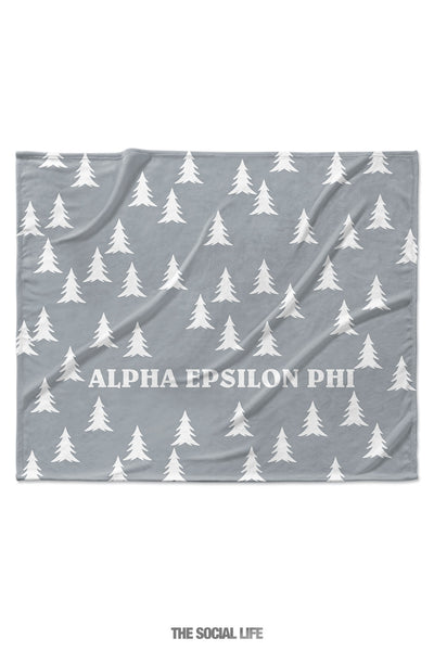 Alpha Epsilon Phi Grey Pines Velvet Plush Blanket