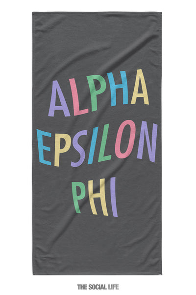 Alpha Epsilon Phi Turnt Towel