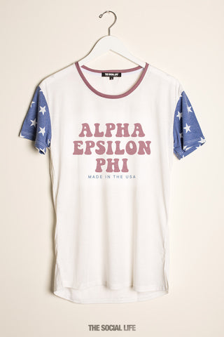 Alpha Epsilon Phi Vintage USA Scoop Tee