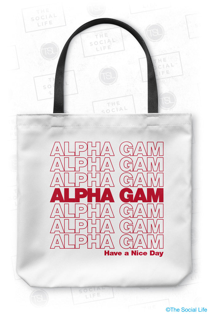 Alpha Gamma Delta Thank You Tote Bag