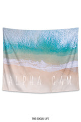 Alpha Gamma Delta Beach Tide Tapestry