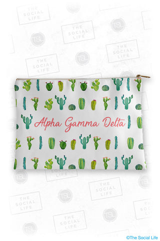 Alpha Gamma Delta Cacti Cosmetic Bag