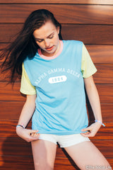 Alpha Gamma Delta Color Block Tee