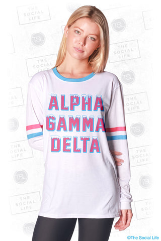 Alpha Gamma Delta Frosted Long Sleeve