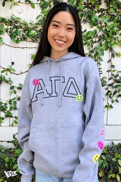 Alpha Gamma Delta Happy Day Hoodie
