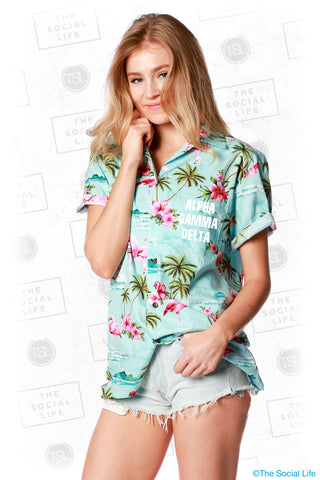 Alpha Gamma Delta Hawaiian Shirt
