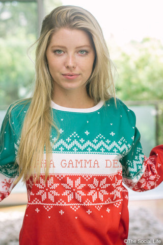Alpha Gamma Delta Holiday Crewneck