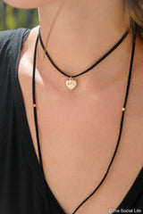 Alpha Gamma Delta Leather Wrap Necklace