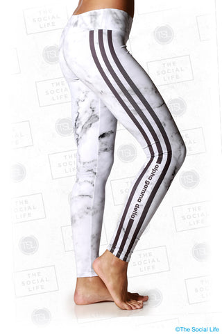 Alpha Gamma Delta Marble Leggings