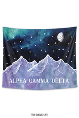 Alpha Gamma Delta Mountain Night Tapestry
