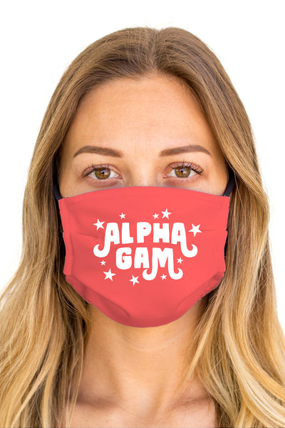 Alpha Gamma Delta Pixie Mask (Anti-Microbial)