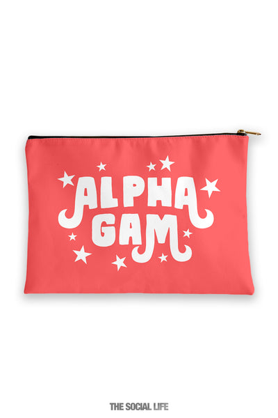 Alpha Gamma Delta Pixie Cosmetic Bag