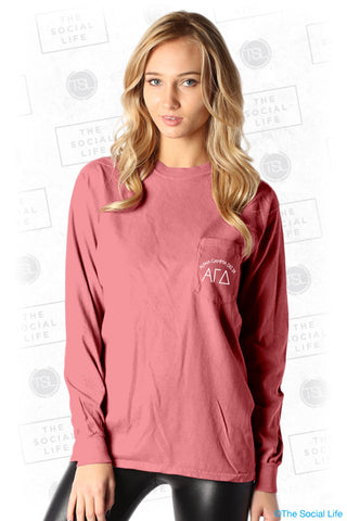 Alpha Gamma Delta Arched Pocket Longsleeve