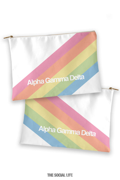 Alpha Gamma Delta Prism Cosmetic Bag