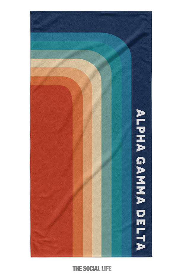 Alpha Gamma Delta Far Out Towel