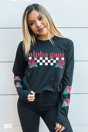 Alpha Gamma Delta Rose Long Sleeve