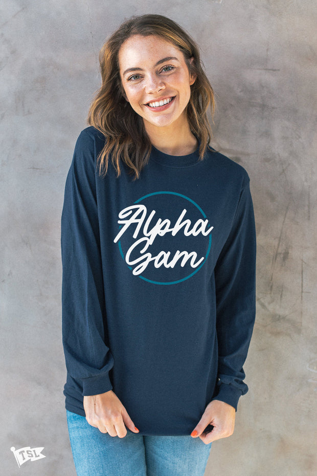 Alpha Gamma Delta Stamp Long Sleeve
